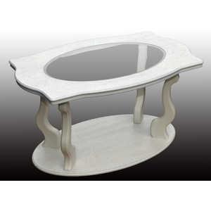 Стол журнальный Мебелик Берже 3С белый ясень мебелик стол журнальный берже 3 белый ясень 33ezffr