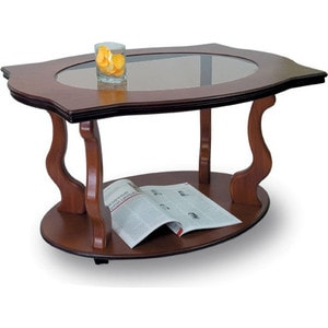 Стол журнальный Мебелик Берже 3С, средне-коричневый шатура стол журнальный берже 3с тёмно коричневый