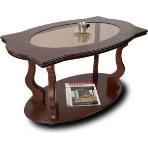 Стол журнальный Мебелик Берже 3С, тёмно-коричневый шатура стол журнальный берже 3с тёмно коричневый