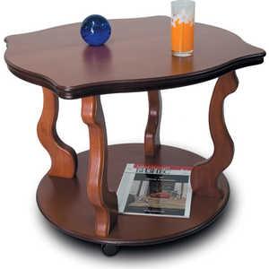 Стол журнальный Мебелик Берже 4, средне-коричневый шатура стол журнальный берже 1 средне коричневый