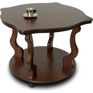 Стол журнальный Мебелик Берже 4 тёмно-коричневый мебелик стол журнальный берже 3 белый ясень 33ezffr