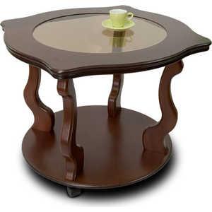 Стол журнальный Мебелик Берже 4С, средне-коричневый шатура стол журнальный берже 1 средне коричневый