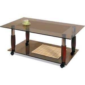 Стол журнальный Мебелик Квартет 12 махагон/тонированное стол журнальный мебелик дуэт 3 чёрный тонированное