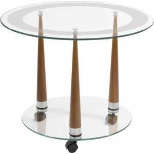 Стол журнальный Мебелик Квартет 13 средне-коричневый/прозрачное мебелик стол журнальный глория м мек цвет средне коричневый