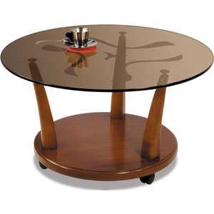 Стол журнальный Мебелик Квартет 4М средне-коричневый/тонированное стол журнальный мебелик берже 3 средне коричневый