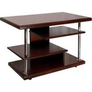 Стол журнальный Мебелик Комфорт 3 орех средне-коричневый сервировочный столик мебелик стол сервировочный бридж средне коричневый