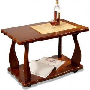 Стол журнальный Мебелик Комфорт 4, орех средне-коричневый стол журнальный мебелик комфорт 3 орех средне коричневый