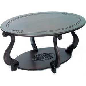 Стол журнальный Мебелик Овация (М) тёмно-коричневый стол журнальный мебелик миледи тёмно коричневый