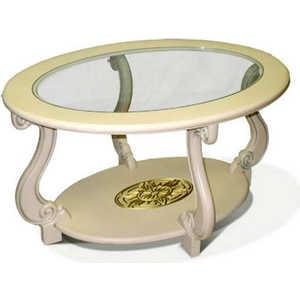 Стол журнальный Мебелик Овация (С), слоновая кость