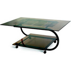 Стол журнальный Мебелик Дуэт 10 чёрный/тонированное мебелик дуэт 6 чёрный тонированное