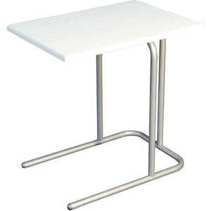 Стол журнальный Мебелик Дуэт 12, белый ясень
