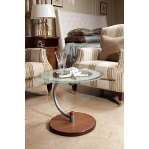 Стол журнальный Мебелик Дуэт 13Н металлик/средне-коричневый/прозрачное мебелик стол журнальный глория м мек цвет средне коричневый