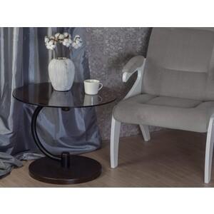 Стол журнальный Мебелик Дуэт 13Н, черный/ венге/ тонированное