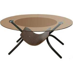 Стол журнальный Мебелик Дуэт 2 чёрный/тонированное мебелик дуэт 6 чёрный тонированное