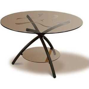 Стол журнальный Мебелик Дуэт 3 чёрный/тонированное мебелик дуэт 6 чёрный тонированное
