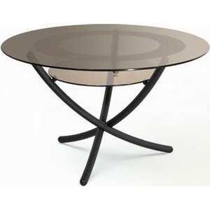 Стол журнальный Мебелик Дуэт 4 чёрный/тонированное мебелик дуэт 6 чёрный тонированное
