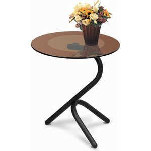 Стол журнальный Мебелик Дуэт 5 чёрный/тонированное мебелик дуэт 6 чёрный тонированное