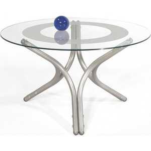 Стол журнальный Мебелик Дуэт 6 металлик/прозрачное шатура стол журнальный дуэт 3 металлик  прозрачное