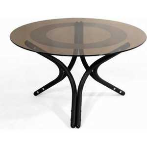 Стол журнальный Мебелик Дуэт 6, чёрный/ тонированное