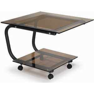 Стол журнальный Мебелик Дуэт 9 чёрный/тонированное мебелик дуэт 6 чёрный тонированное
