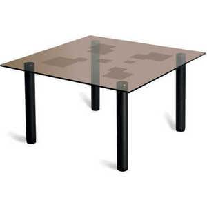 Стол журнальный Мебелик Робер 2М, чёрный/ тонированное