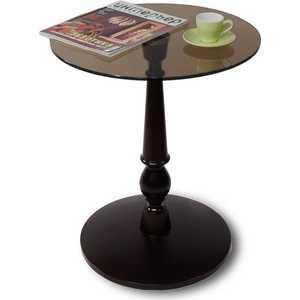 Стол журнальный Мебелик Рио 1, венге/ тонированное