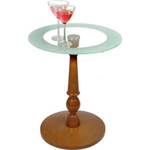 Стол журнальный Мебелик Рио 1, средне-коричневый/ прозрачное стол журнальный мебелик комфорт 3 орех средне коричневый