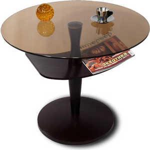 Стол журнальный Мебелик Рио 2, венге/ тонированное