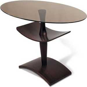 Стол журнальный Мебелик Рио 3, венге/ тонированное