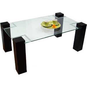 Стол журнальный Мебелик Приз 2Н, венге прозрачное без иероглифа