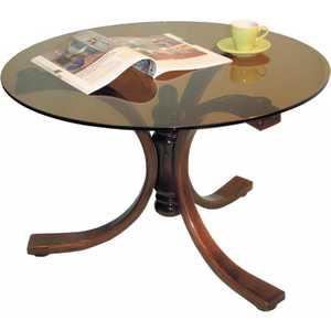 Стол журнальный Мебелик Лорд, средне-коричневый/тонированное шатура стол журнальный миледи средне коричневый