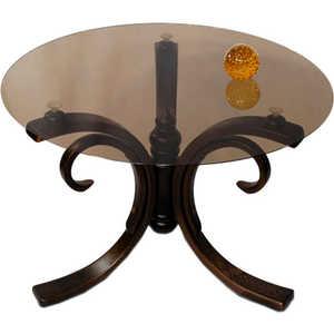 Стол журнальный Мебелик Лорд тёмно-коричневый/тонированное стол журнальный мебелик миледи тёмно коричневый