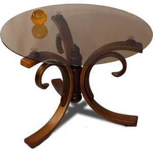 Стол журнальный Мебелик Миледи средне-коричневый стол журнальный мебелик миледи тёмно коричневый