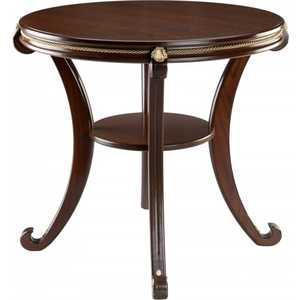 Стол журнальный Мебелик Глория (М) средне-коричневый мебелик стол журнальный глория м мек цвет средне коричневый