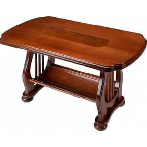 Стол журнальный Мебелик Орфей вставка ротанг цена