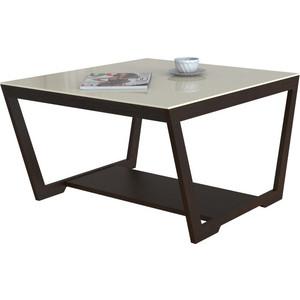 Стол журнальный Мебелик BeautyStyle 1, венге/стекло бежевое