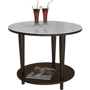 Стол журнальный Мебелик BeautyStyle 10 венге/стекло белое раздвижной большой стеклянный обеденный стол кубика нагано 2 стекло стекло темно коричневое венге