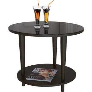 Стол журнальный Мебелик BeautyStyle 10 венге/стекло черное обеденный стол дик стол 45 дн4 венге стекло черное