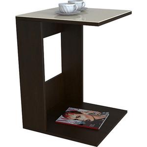 Стол журнальный Мебелик BeautyStyle 3 венге/стекло бежевое раздвижной большой стеклянный обеденный стол кубика нагано 2 стекло стекло темно коричневое венге
