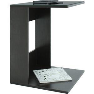 Стол журнальный Мебелик BeautyStyle 3, венге/стекло черное