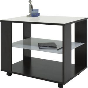 Стол журнальный Мебелик BeautyStyle 5, венге/стекло белое