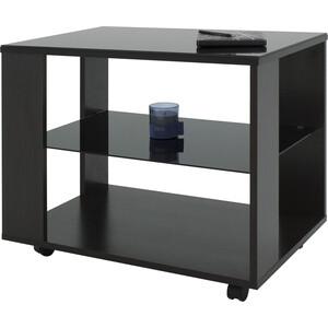 Стол журнальный Мебелик BeautyStyle 5 венге/стекло черное раздвижной большой стеклянный обеденный стол кубика нагано 2 стекло стекло темно коричневое венге