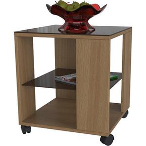 Стол журнальный Мебелик BeautyStyle 6 бук/стекло темнокоричневое мебелик дуэт 6 чёрный тонированное
