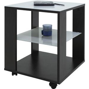 Стол журнальный Мебелик BeautyStyle 6, венге/стекло белое