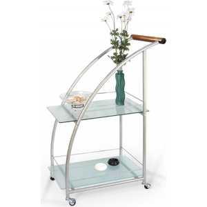 Стол сервировочный Мебелик Баккара металлик/матовое