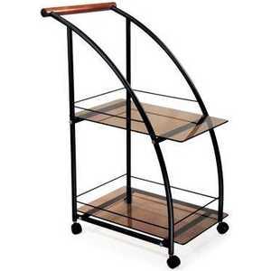 Стол сервировочный Мебелик Баккара чёрный/тонированное сервировочный столик мебелик стол сервировочный бридж средне коричневый