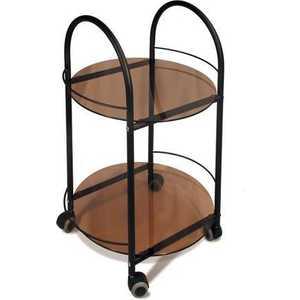 Стол сервировочный Мебелик Гольф, чёрный/ тонированное