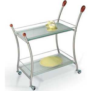 Стол сервировочный Мебелик Поло металлик/матовое