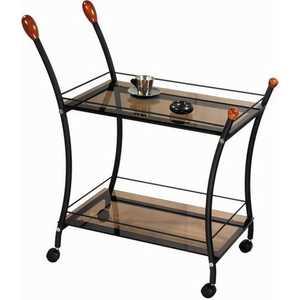 Стол сервировочный Мебелик Поло, чёрный/ тонированное