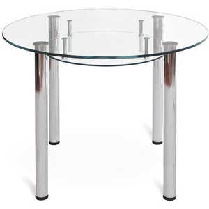 Стол обеденный Мебелик Робер 13МП хром - без рисунка журнальный стол робер 10джурнальный стол робер 10д